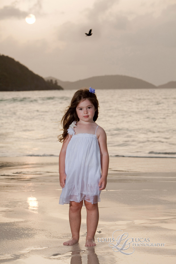 Little Girl on Cinnamon Bay, St. John Virgin Islands