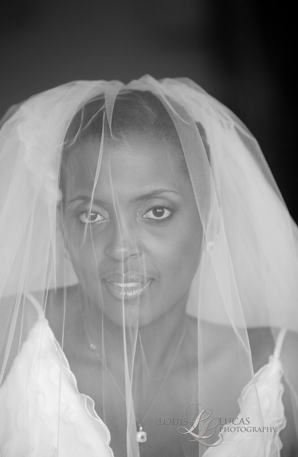 Beautiful Bride stares into the camera at the Westin Resort, St. John