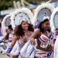 Members of the Westin Resort St John Carnival troop, dance in formation