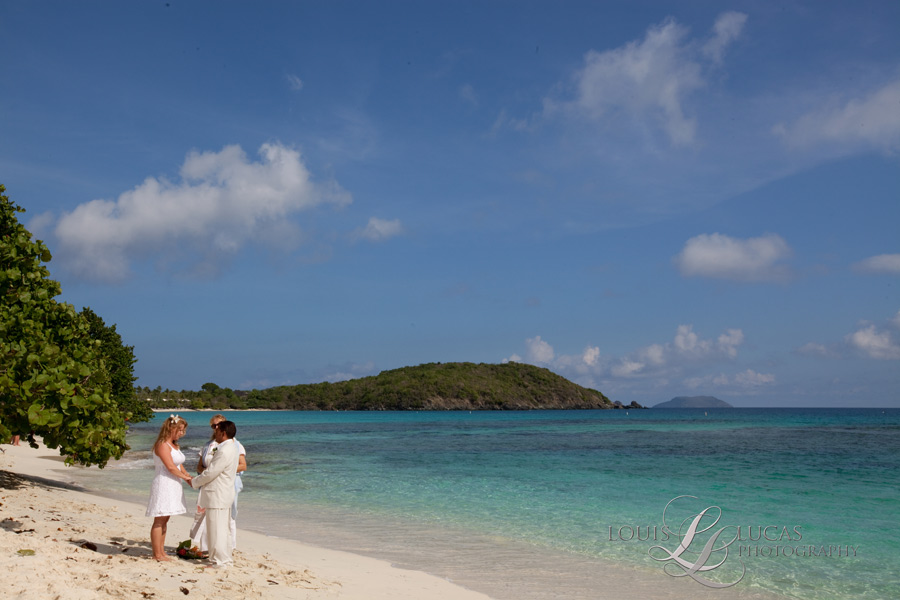 Beach wedding in the Virgin Islands