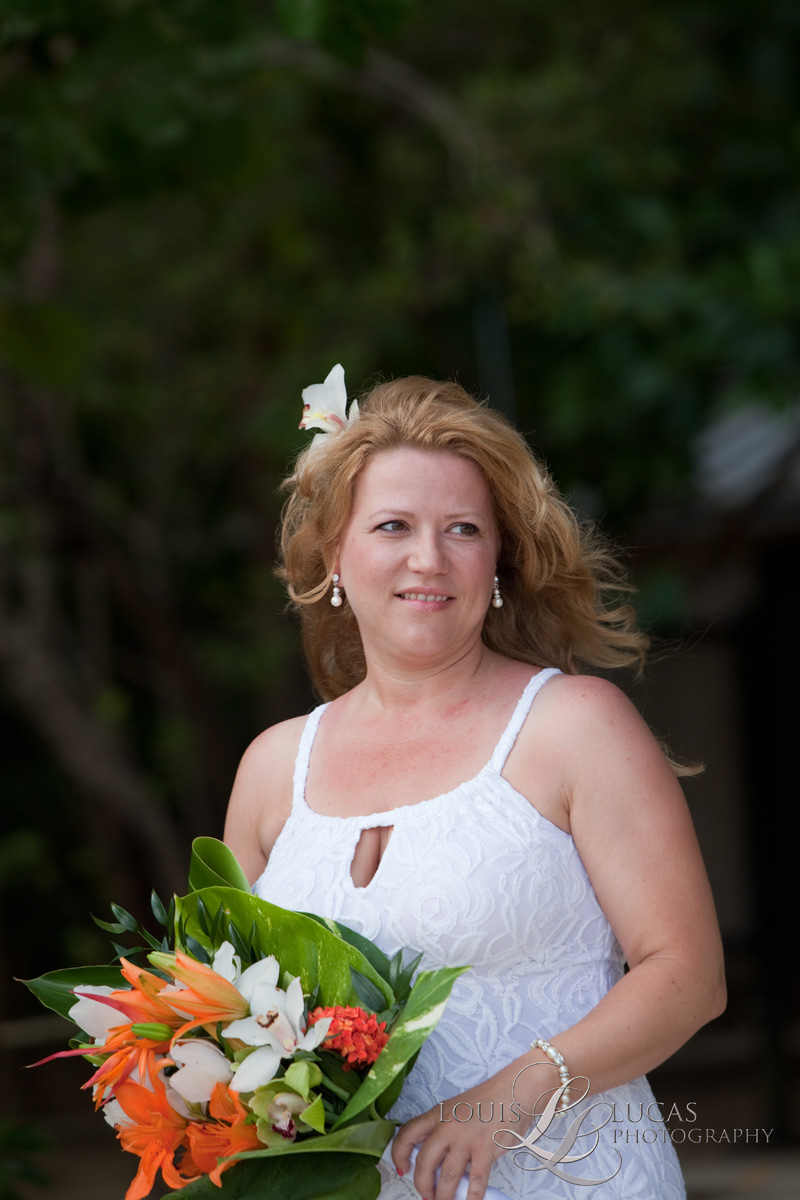 Portrait of Bride on St. John, US Virgin Islands