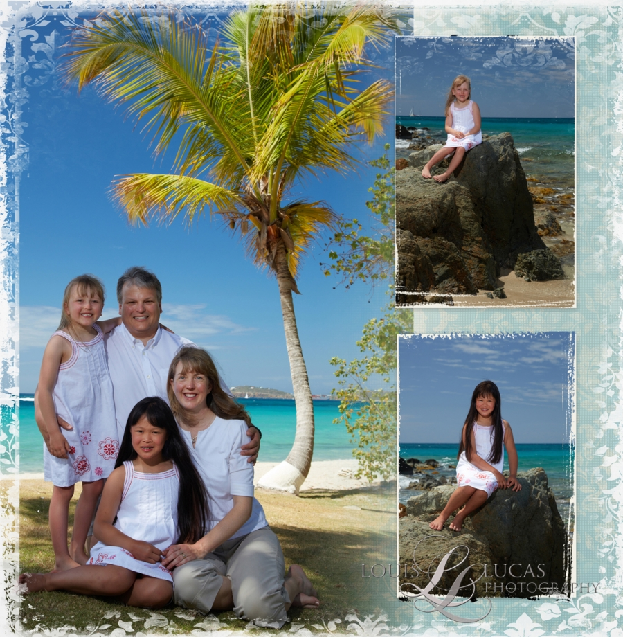 Image of Family on A St. Thomas Beach